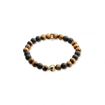 "Thomas Sabo Jewellery Bracelet ""Brown Skull"""