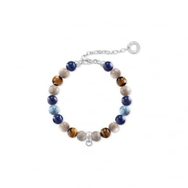 "Thomas Sabo Jewellery Charm Bracelet ""Brown, Blue"""