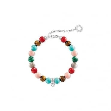 "Thomas Sabo Jewellery Charm Bracelet ""Multicoloured"""