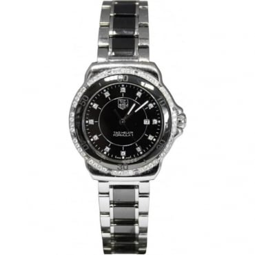 Pre-Owned Tag Heuer Ladies Steel And Ceramic Formula 1 Watch.