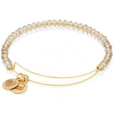 Crescent Moon Brilliance Beaded Bangle