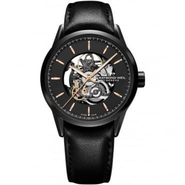 Raymond Weil Gents Freelancer Skeleton Watch 2715-BKC-20021