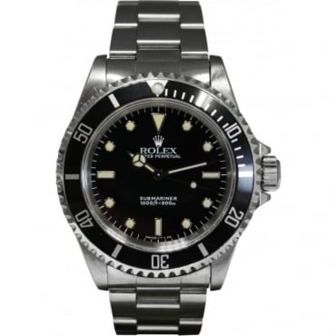 Pre-Owned Rolex Men's Stainless Steel Submariner- Non Date. 14060