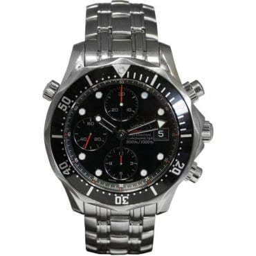 Pre-Owned Omega Men's Stainless Steel Seamaster Chronograph Watch.