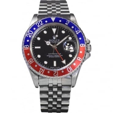 Pre-Owned Rolex Men's Stainless Steel GMT Master With Pepsi Bezel