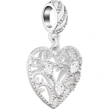 Chamilia Filigree Plume Heart 2025-1792