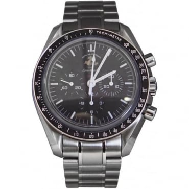 Pre-Owned Omega Men's Stainless Steel 50th Anniversary Speedmaster. No. 4259/5927