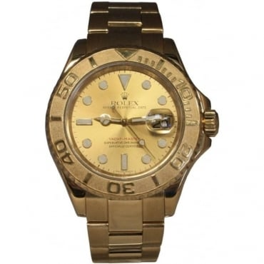 Men's 18ct Yellow Gold Yachtmaster Watch. 16628
