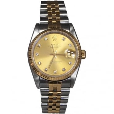 Mid-Size Bi-Metal DateJust With Diamond Dot Dial
