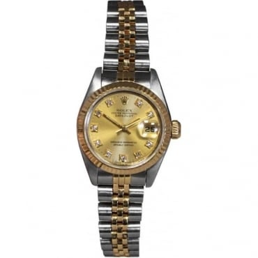 Ladies Bi-Metal DateJust with Diamond Dot Dial