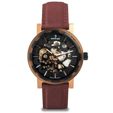 Kolt Rose Gold Leather Watch WA02-005542