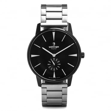 Mayfair All Black Silver Watch WA02-005624