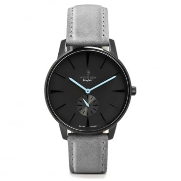 Mayfair All Black Blue Watch WA02-005603