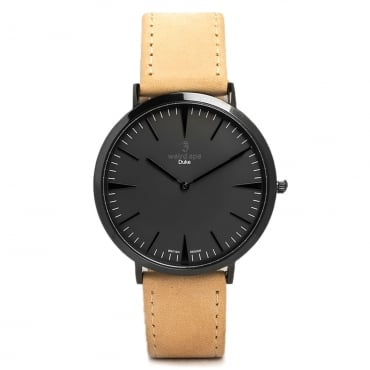 Duke All Black Sandstone Leather Watch WA02-005402