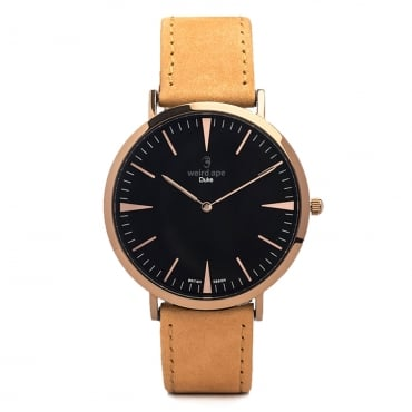 Duke Rose Gold Tan Leather Watch WA02-005413