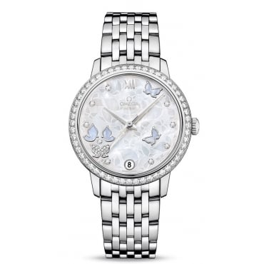 Ladies 'Butterfly' 18ct White Gold Watch - 424.55.33.20.55.003