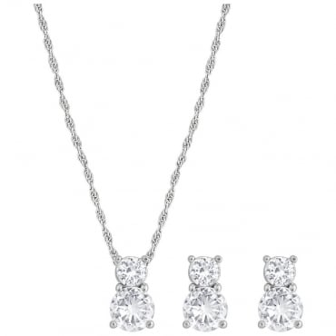 Brilliance Earrings and Pendant Set 1807339