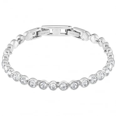 LADIES TENNIS BRACELET, WHITE, RHODIUM PLATING 1791305