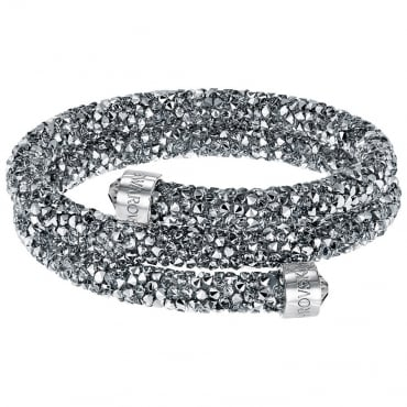 LADIES CRYSTALDUST DOUBLE BANGLE, GREY