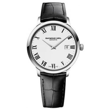 Men's Tradition Leather Strap Watch 54661-stc-00300