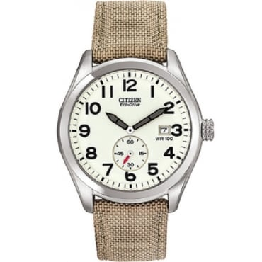 Mens Khaki Eco-Drive Watch BV1080-18A