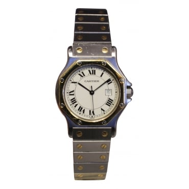 Ladies Stainless Steel Santos Watch