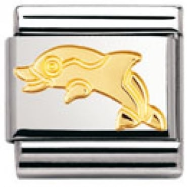Classic Gold Dolphin Charm - 03011304