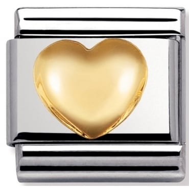 Classic Gold Raised Heart
