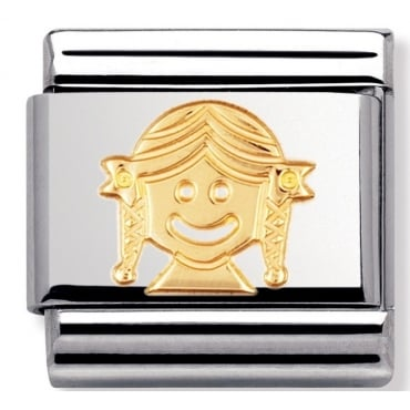 Classic Gold Girl Charm