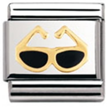 Classic Gold and Enamel Sunglasses Charm