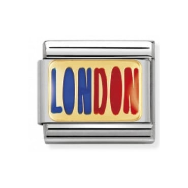 Classic Gold and Enamel London Charm