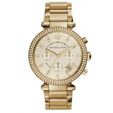 Ladies Gold Parker Chronograph Watch MK5354