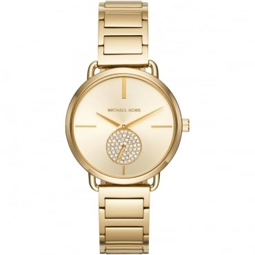 Ladies Gold Portia Watch MK3639