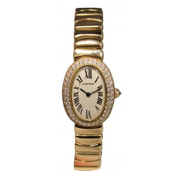 Ladies 18ct Yellow Gold Baignoire Watch
