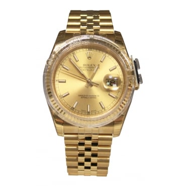 Unisex 18ct Yellow Gold DateJust, Factory Seals. 116238