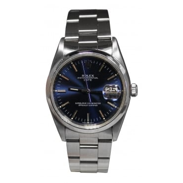 Men's Stainless Steel Oyster Perpetual Date Watch