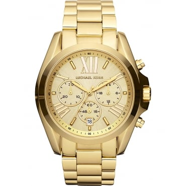 Ladies Gold Bradshaw Chronograph Watch MK5605
