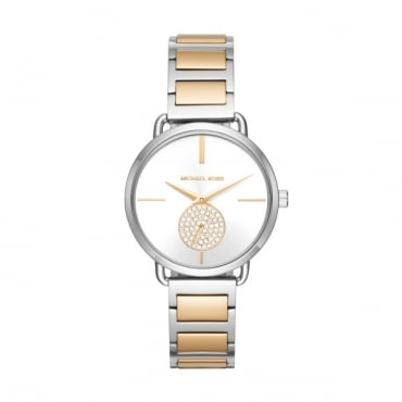 Portia Two Tone Watch MK3679