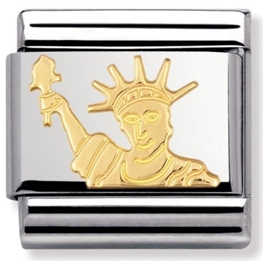 Classic Gold Statue Of Liberty Charm - 03012808