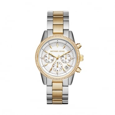 Ladies Two Tone Ritz Watch MK6474