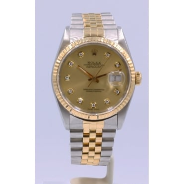 Men's Bi-Metal Diamond Dot Dial Datejust