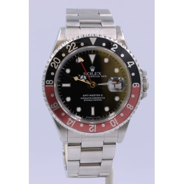 Men's Stainless Steel GMT Master II Watch. 16710