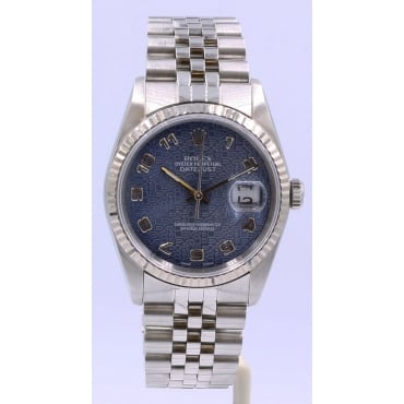 Men's Stainless Steel DateJust Watch 16234