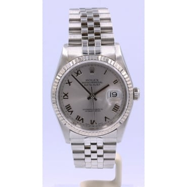 Men's Stainless Steel DateJust Watch. 16234