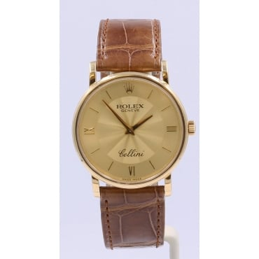 Men's 18ct Yellow Gold Cellini Dress Watch