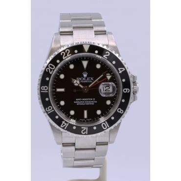 Men's Stainless Steel GMT Master II Watch