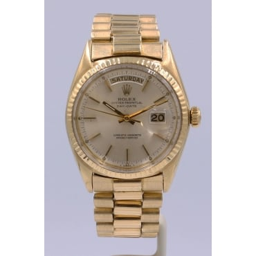 Men's 18ct Yellow Gold Day-Date Watch. 1803