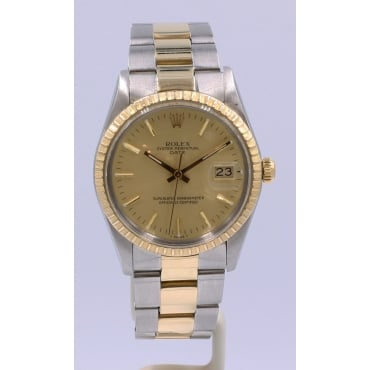 Men's Bi-Metal Oyster Perpetual Date Watch. 15053