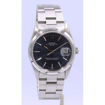 Men's Stainless Steel Oyster Perpetual Date Watch. 15200
