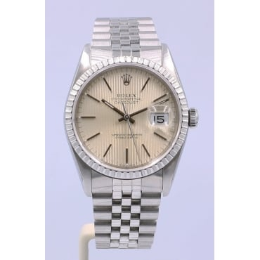 Men's Stainless Steel DateJust Watch. 16220